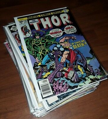 Marvel Thor Bronze lot 29 books, 251-477, new 1-3, Thor #1 autographed