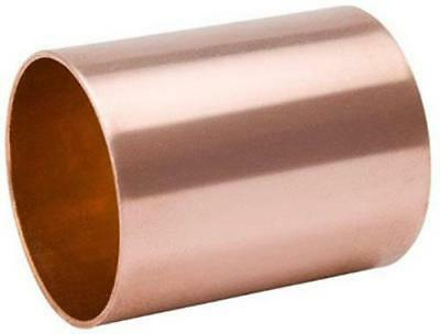 """1-1/2"""" Wrot Copper Dwv Coupling With Stop Copper X Copper 4PK"""