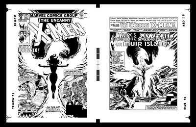 John Byrne X-men #125 Cover And Pg 1 Rare Large Production Art