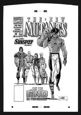 Rob Liefeld New Mutants #99 Rare Large Production Art Cover
