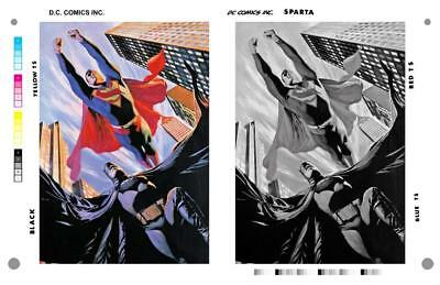 Alex Ross Batman And Superman Pin Up Rare Large Production Art