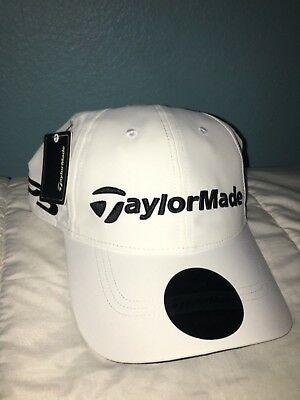 NWT TaylorMade Lite M1 TP5 Tour Hat Adjustable Mens Golf Cap WHITE Litetech Cap