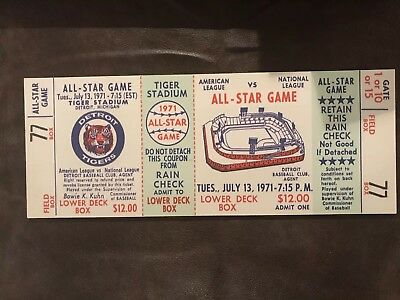 1972 All Star Game Ticket