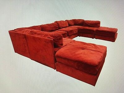 Fine Selig Of Monroe Rare Mid Century Modern 10 Pc Sectional Sofa Onthecornerstone Fun Painted Chair Ideas Images Onthecornerstoneorg
