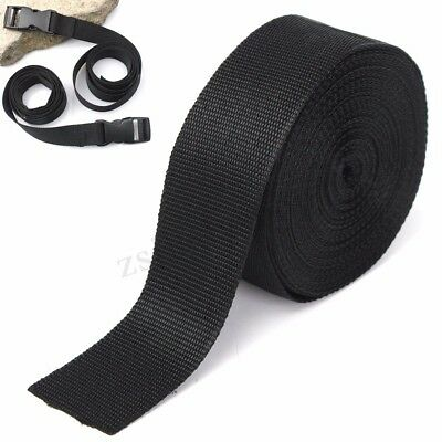 10 mètres 50mm sangle ruban Nylon noir Herringbone armure sangles sanglage UK