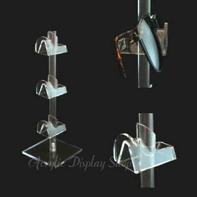 Acrylic Eyewear Display Stand for 3 Pair Eyeglasses or Sunglasses