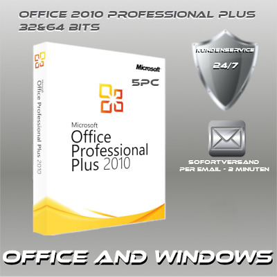 MS Office 2010 Professional Plus 1-5PC, ProduktKey per E-Mail