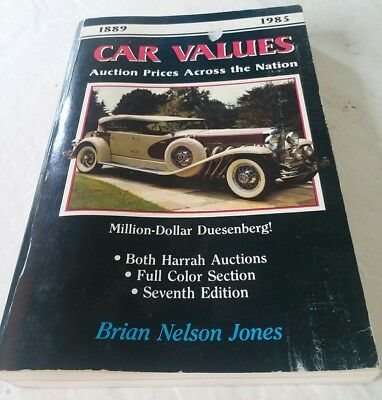 Car Values Auction Prices Across the Nation Book 1986 Edition