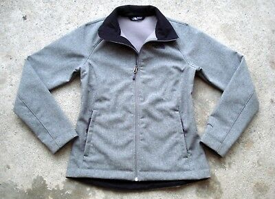 The NORTH FACE WINDWALL Softshell Jacket Women's Small Gray Zip up