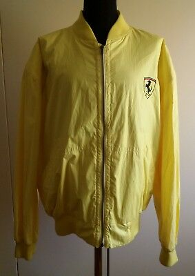 FERRARI TEAM by HUGO BOSS PIT CREW YELLOW JACKET XXL VERY RARE VINTAGE 1990s