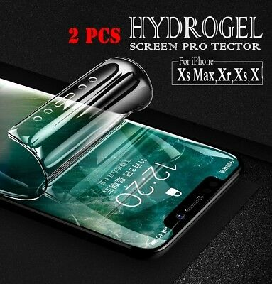 Flexible Hydrogel Screen Protector Film For iPhone Xs Max/Xr/Xs/X/6 6S 7 8 8+ US