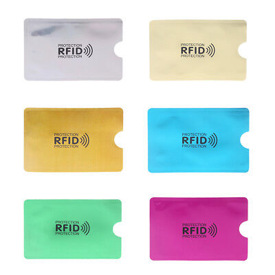 RFID Blocking Sleeve Credit Card Protector Bank Business Cards Holder Case