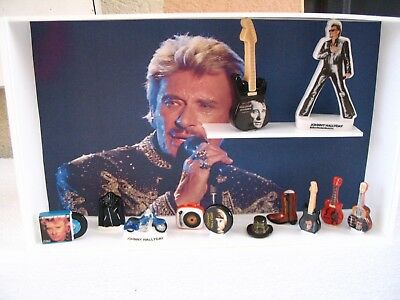 Feves Serie Complete Johnny Hallyday + Presentoir Cadre + 2 Maxi Feves