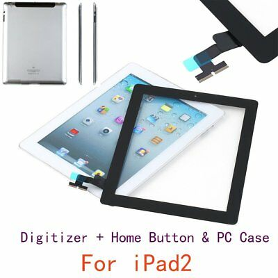 Replacement Touch Screen Digitizer + Home Button Assembly Case for iPad2 V2