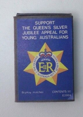 Queens Silver Jubilee Appeal for Young Australians Matchbox x3