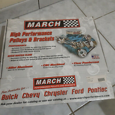 PULLEY KIT March Performance GM Power Series POULIES MOTEUR for GM V8 - 4410