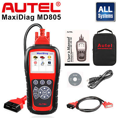 Autel Maxidiag MD805 Auto Diagnostic Tool OBD2 Car Code Reader Scanner ABS SRS