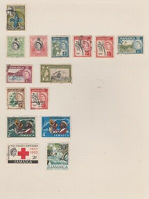 JAMAICA Collection Red Cross Independence Man o War, etc USED VFU as per scan #