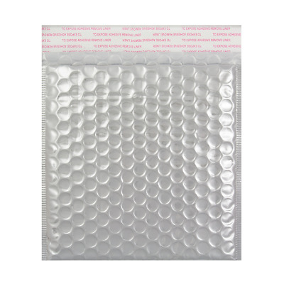 Metallic Bubble SILVER Padded 50 100 200 500 Envelopes By Postage Solutions