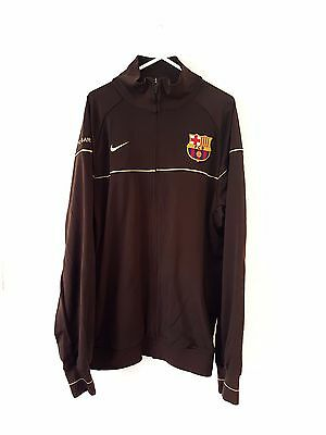 86787b0c4a98 Barcelona Track Top Jacket. Large. Nike. Brown Adults L Long Sleeves  Football.