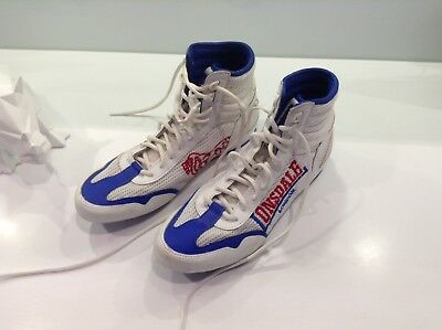Lonsdale London White With Red And Blue boxing boots Men's UK 8 - EU 42