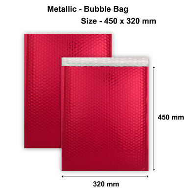 450 x 320 mm Metallic Matt Bubble RED Bag Cheapest Good Quality