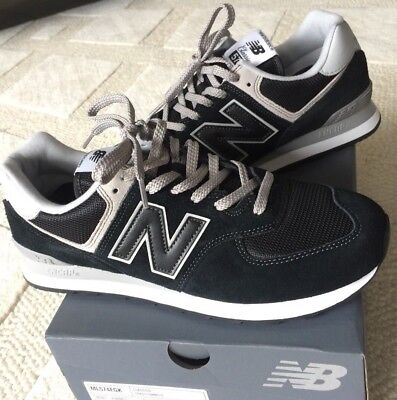 finest selection cfec9 43fb8 SIZE 11 NEW Balance 574 v2 Evergreen men's black gym sports trainers / EU  45.5
