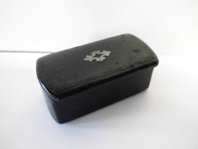 antike Lackdose-Schnupftabakdose m. Silber/antique lacquer snuffbox with silver