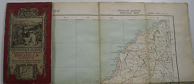 1913 old OS Ordnance Survey one-inch Popular Edition Map 136 Boscastle & Padstow