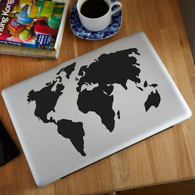 17BE Fashion World Map Pattern Vinyl Decal Sticker For Apple Macbook Air/Pro