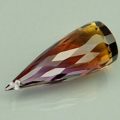 17.1ct. Goodly!!! Bi Color ~ Purple & Gold Ametrine Briolette Drilled