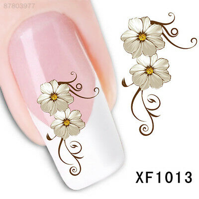5C56 New Fashion Daisy Flower Nail Water Art Transfer Stickers Decoration DIY