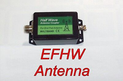 4 Band, End Fed, Half Wave Antenna, Shortwave, 100 W,  HAM Radio Amateur, EFHW