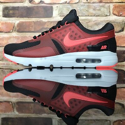 huge selection of 4f441 cf876 Nike Air Max Zero Essential Classic Running Men Shoes 11 Black Red 876070 -007
