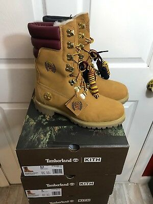 40 BELOW KITH x Tommy Hilfiger x Timberland Shearling Super Boot Wheat 8 13