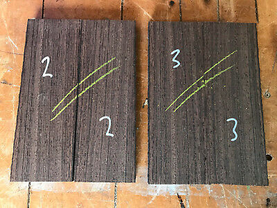 Wenge bookmatched knife scale sets / knife handle sets QUARTERSAWN