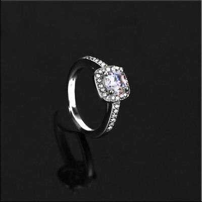 New Womens Exquisite White Sapphire 925 Silver Filled Wedding Ring Jewelry WQ