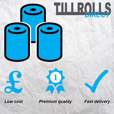 40 Rolls - 57 x 40 mm Thermal Till Rolls PDQ CREDIT CARD - Fast & Free Delivery!