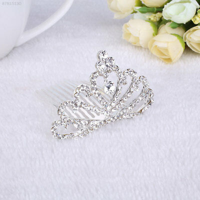 4E1F Fashion Heart Shape Alloy Diamante Crown Bridal Tiara Hair Accessories For