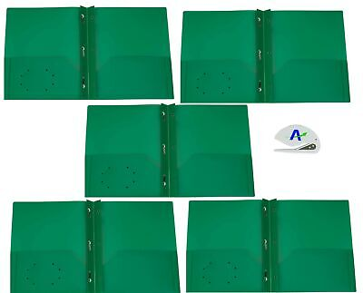 5 Pack Rilney Two-Pocket Heavyweight Poly Portfolio with Prongs, for Letter S...