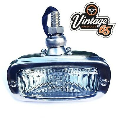 Stainless Steel Chrome Reverse Fog Light Lamp Classic Car Bulb Included 12v