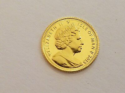 2013 1/64 oz Isle of Man .9999 Pure Gold Angel Coin