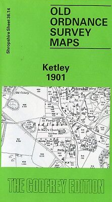 An OS map of old Ketley in Shropshire dated 1901