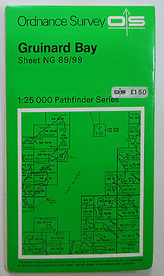 1972 old OS Ordnance Survey Second Series Pathfinder Map NG 89/99 Gruinard Bay
