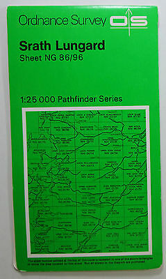 1974 old OS Ordnance Survey Second Series Pathfinder Map NG 86/96 Srath Lungard