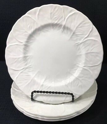 "Set of 4 Coalport Countryware 8"" Salad Plates White Bone China Made In England"