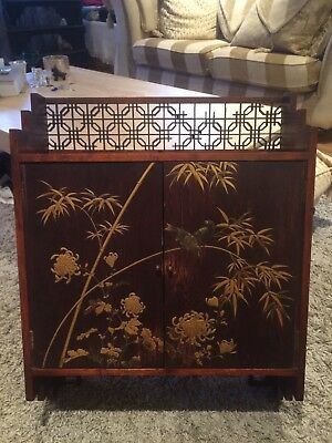Liberty & Co London Antique Japanese Chinese Oriental Asian Cabinet Furniture