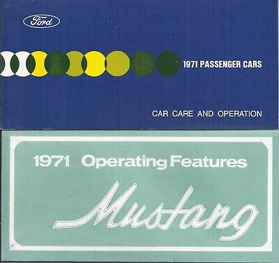 1971 Ford & Mustang  Owner's Manual