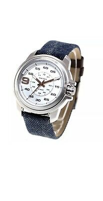 ac9e7633ec6 NWT DIESEL SPROCKET Unisex Stainless Steel White Leather Strap Watch ...
