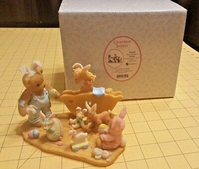 Easter Cherished Teddies Brianna dressed as Bunny w Toys 4020590 We're All Ears!